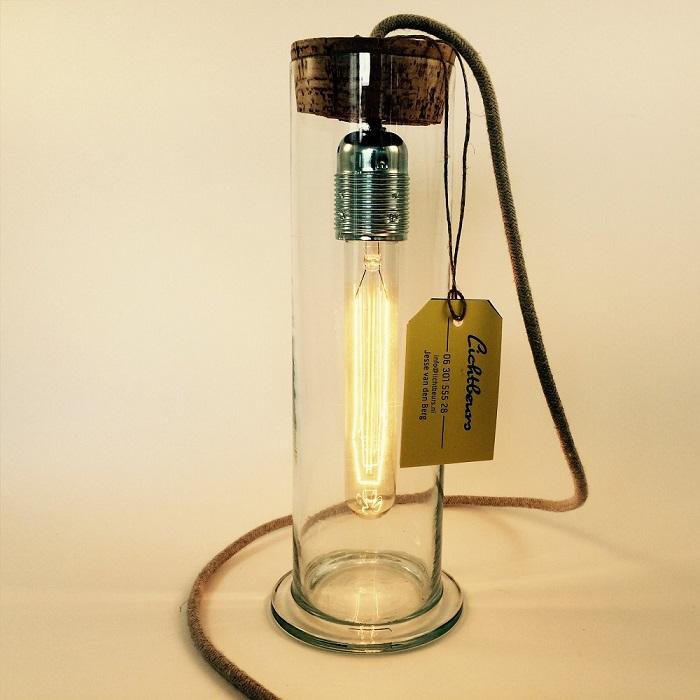 Staande Lamp Cilinder Glas LB-040