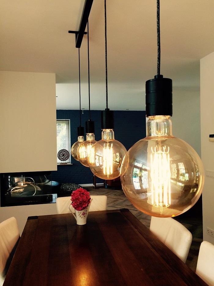 Hanglamp stalen balk