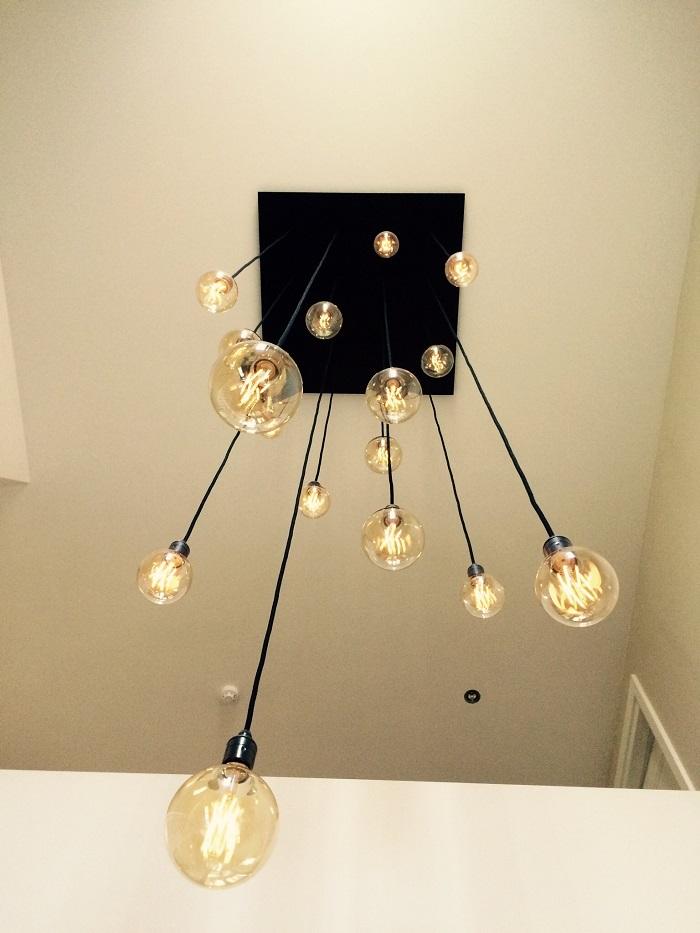 Hanglamp vide zwart onder