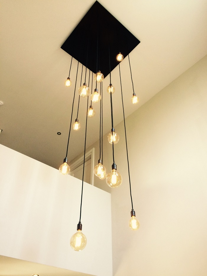 hanglamp vide zwart schuin